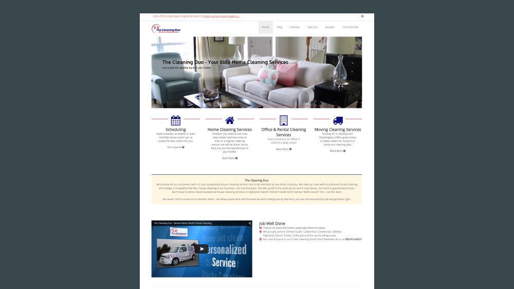 CleaningDuo – Website Design Portfolio