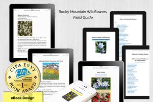 First Place Award – eBook Design for Rocky Mountain Wildflowers